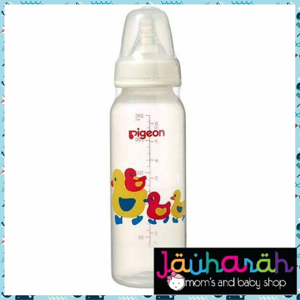 Pigeon Slim Neck Peristaltic Bottle Pp Character Design 240ml Baby Karakter Nipple 50ml M Duck Shopee Malaysia