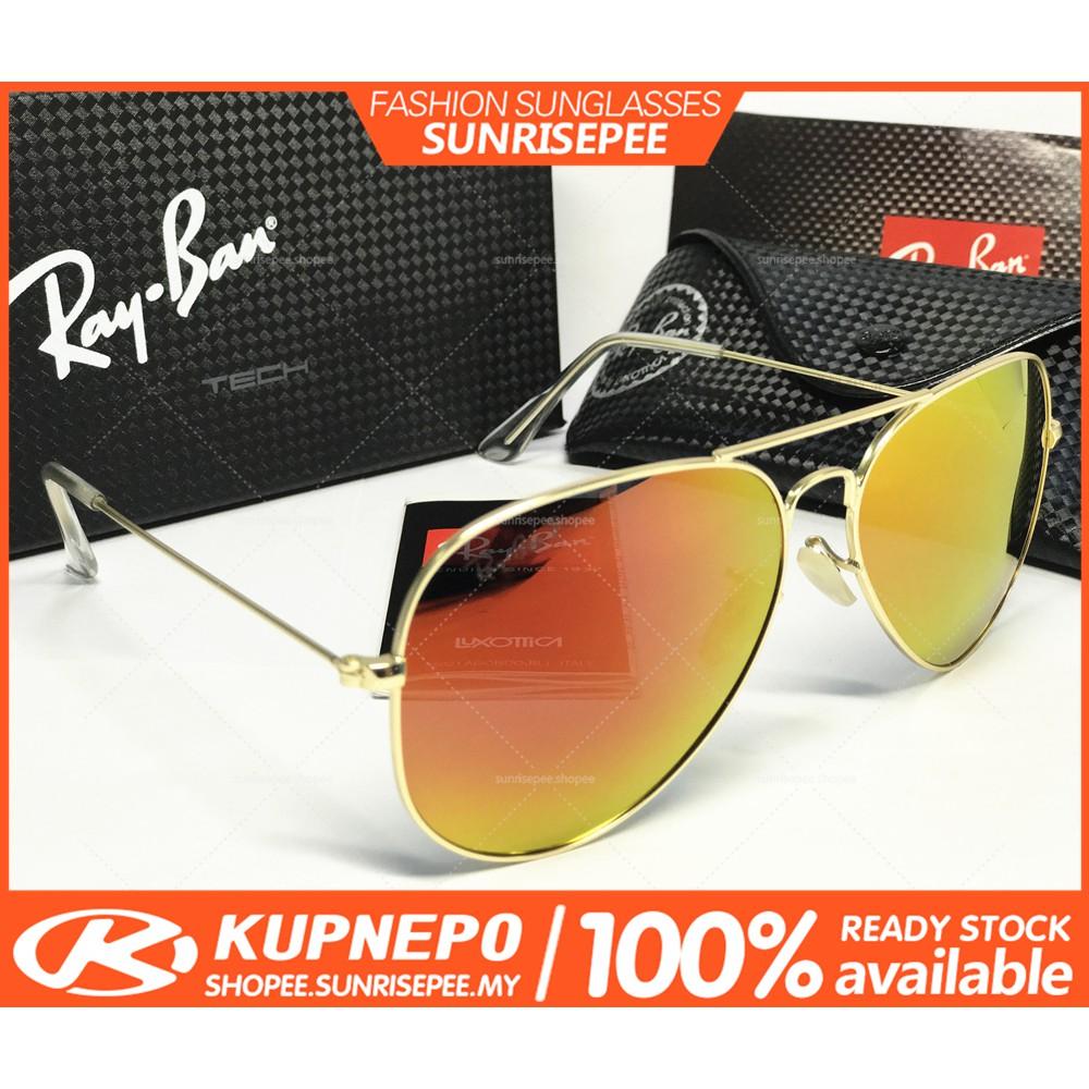 16fe07f2f57 Ray-Ban Sunglasses Rayban RB3480 Polarized Aviator Gold Frame Gold Mercury  Lens