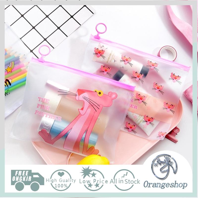 222e8bc84446 File Holder Storage Bag Folder Transparent Cartoon File Bag Unicorn Pink  Panther Student Information Kit