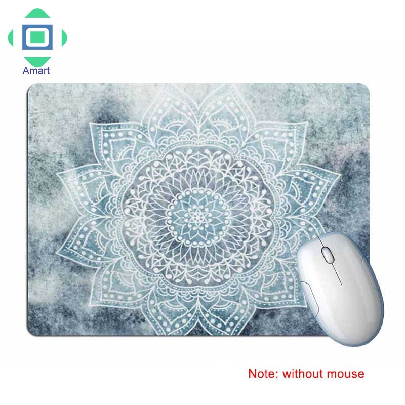 IE❤Gaming Mouse Pad Rectangle Geometric Pattern Flower Anti Slip Mice Mat Mousepad for Home Office   Shopee Malaysia