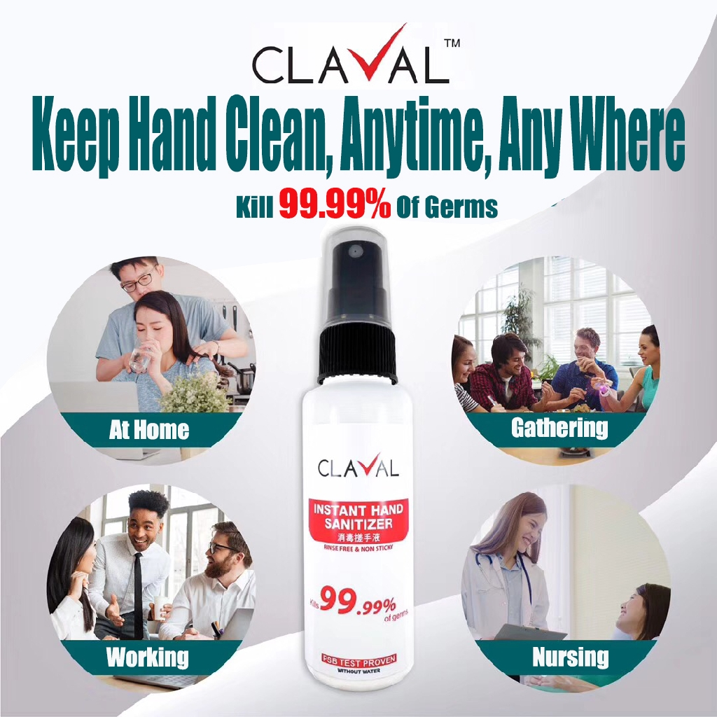 Claval Instant Hand Sanitizer (50ml)