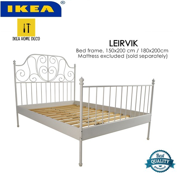 Pre Order Ship After 30 July 2020 Ikea Leirvik Bed Frame White 150x200 Cm 180x200cm Shopee Malaysia