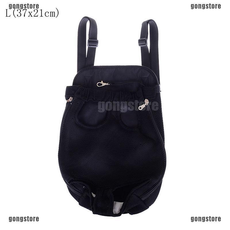 4cb4b9a334b0 black portable outdoor dog pet double shoulder mesh bag backpack travel ca