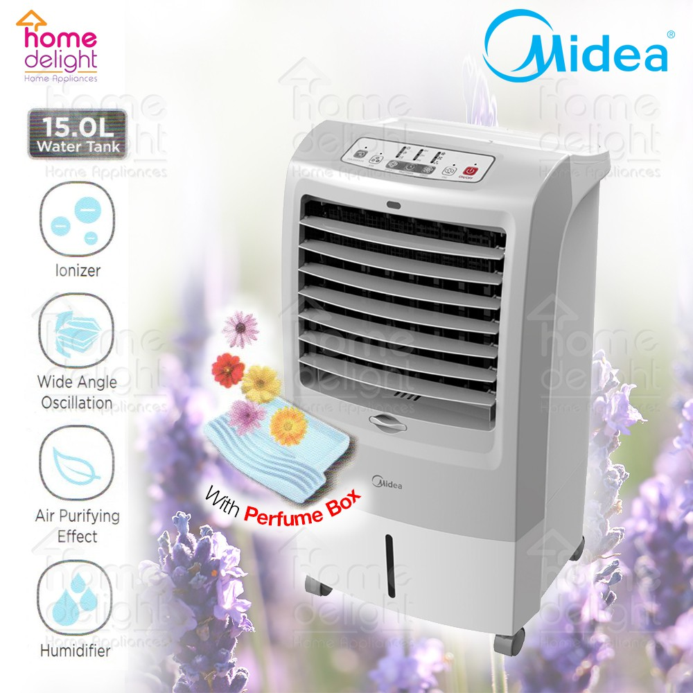 Midea MAC-215F Air Cooler with Ioniser and Perfume Box 15L