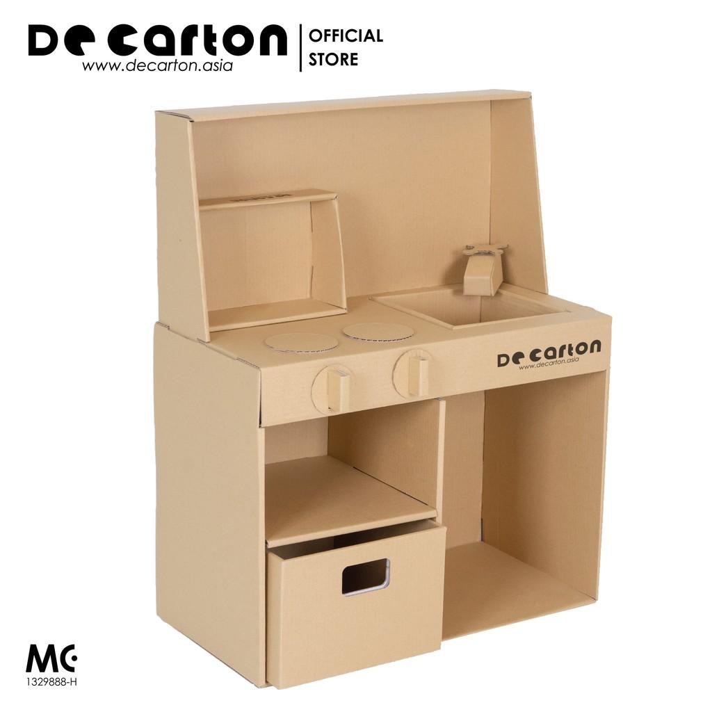 De Carton Cardboard Toy Kitchen