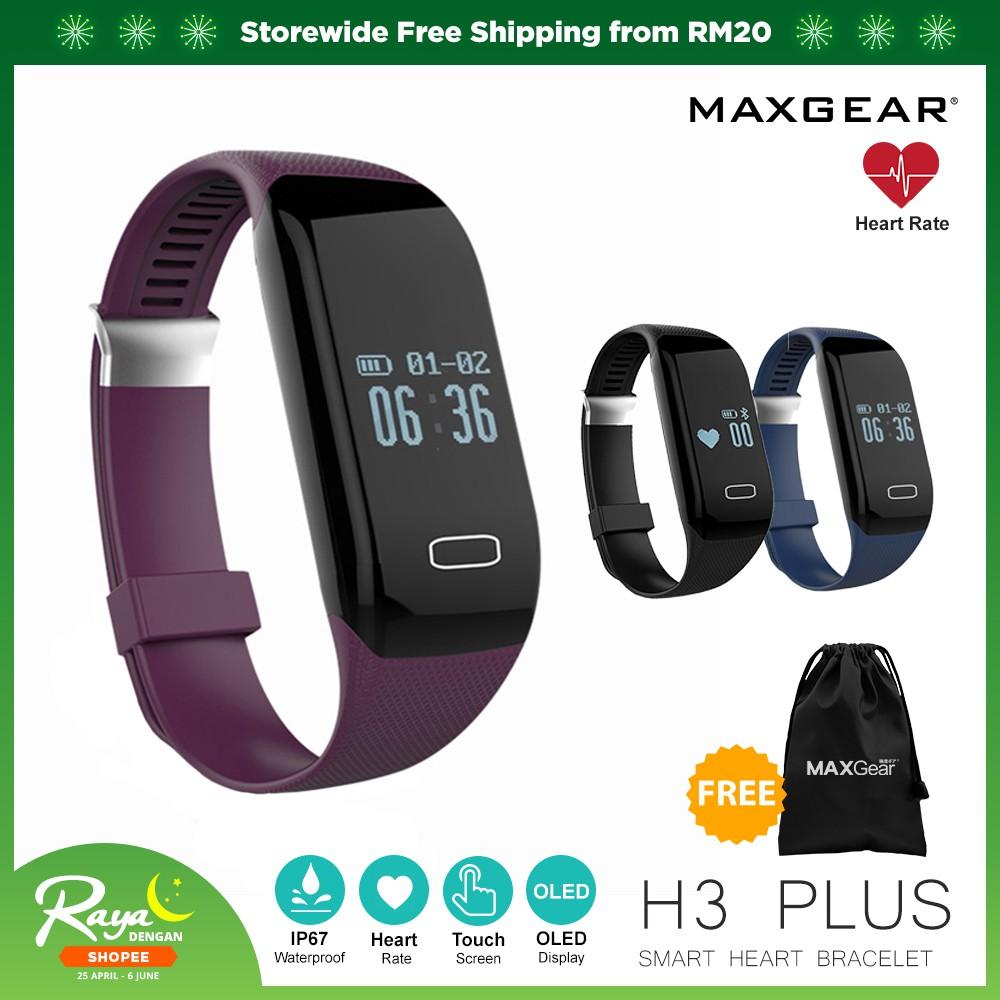 Maxgear H3 Plus Smart Watch Heart Rate Smartband Pedometer
