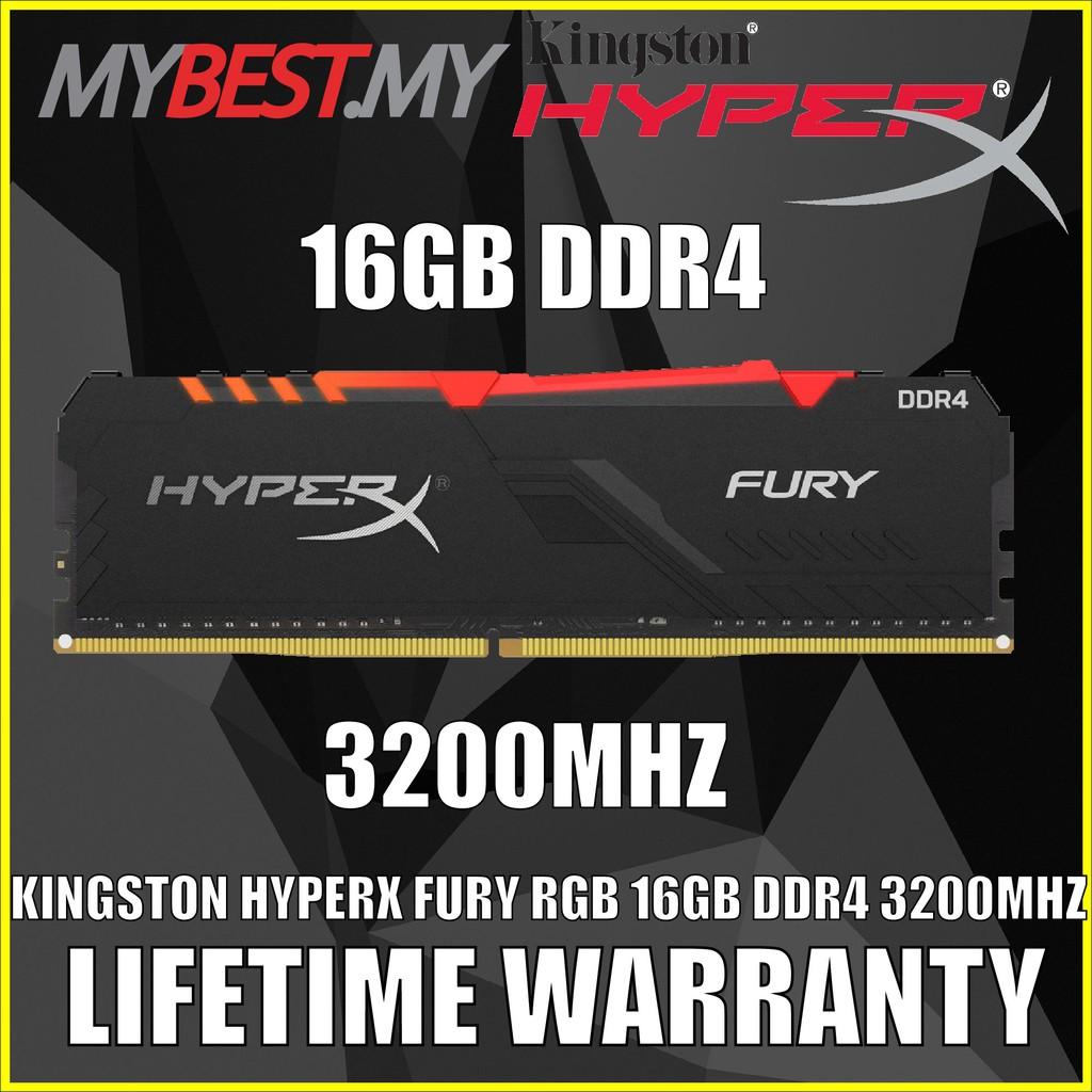 KINGSTON HYPERX FURY RGB 16GB DDR4 3200MHZ