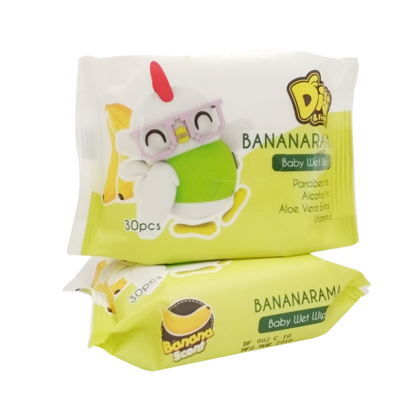 DIDI AND FRIENDS TROPICAL FRUITS MANGO BANANARAMA WET WIPES 30S X 2PKT