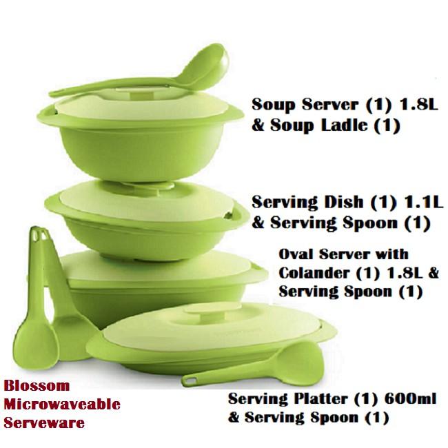 Tupperware Blossom Microwaveable Serveware