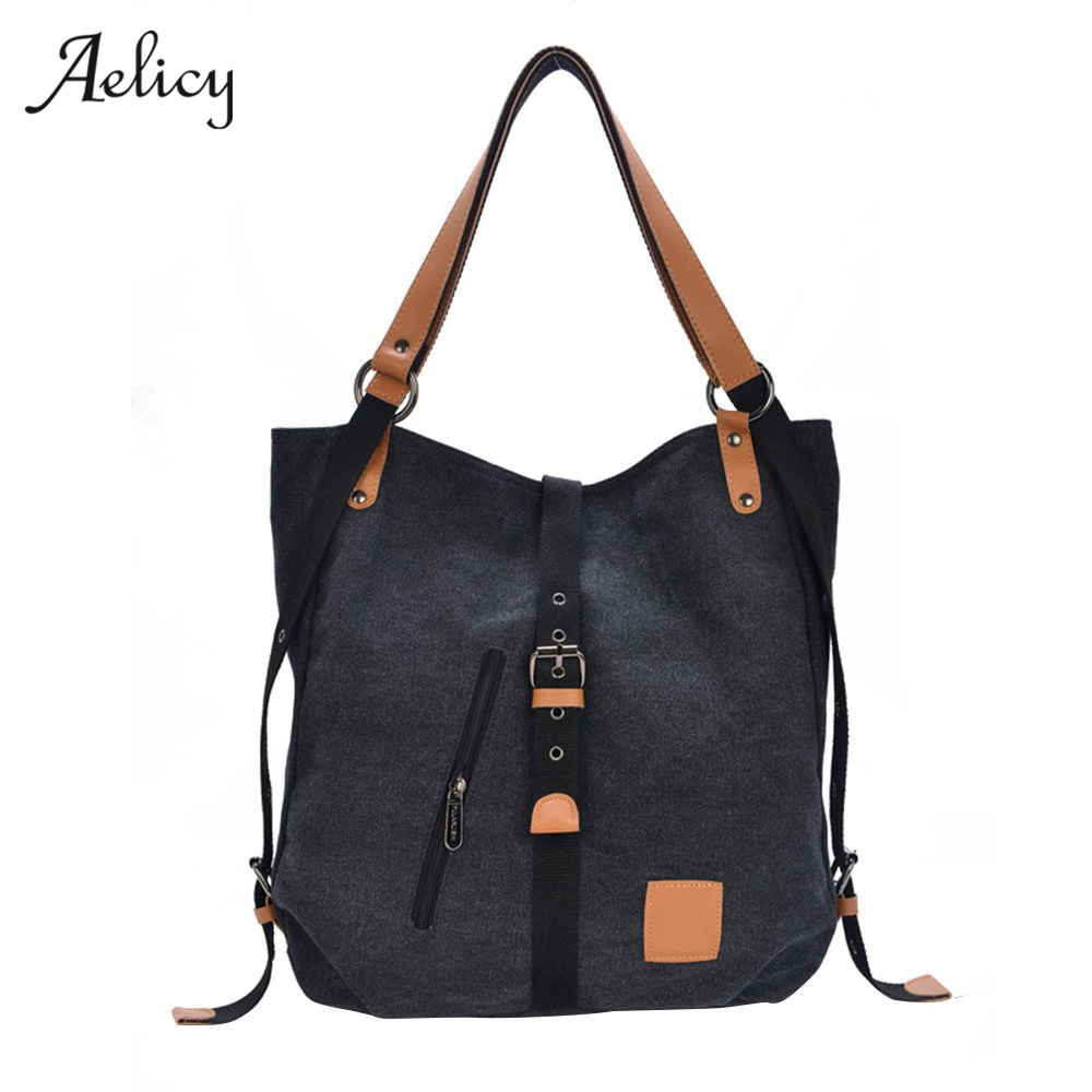 Aelicy 5 Colors Multifunctional Women Canvas Messenger Bag New Fashion  6dbd1731b94f3