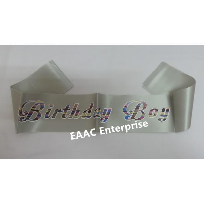 Ready Stock! Happy Birthday Boy Selempang Sash Party Decoration