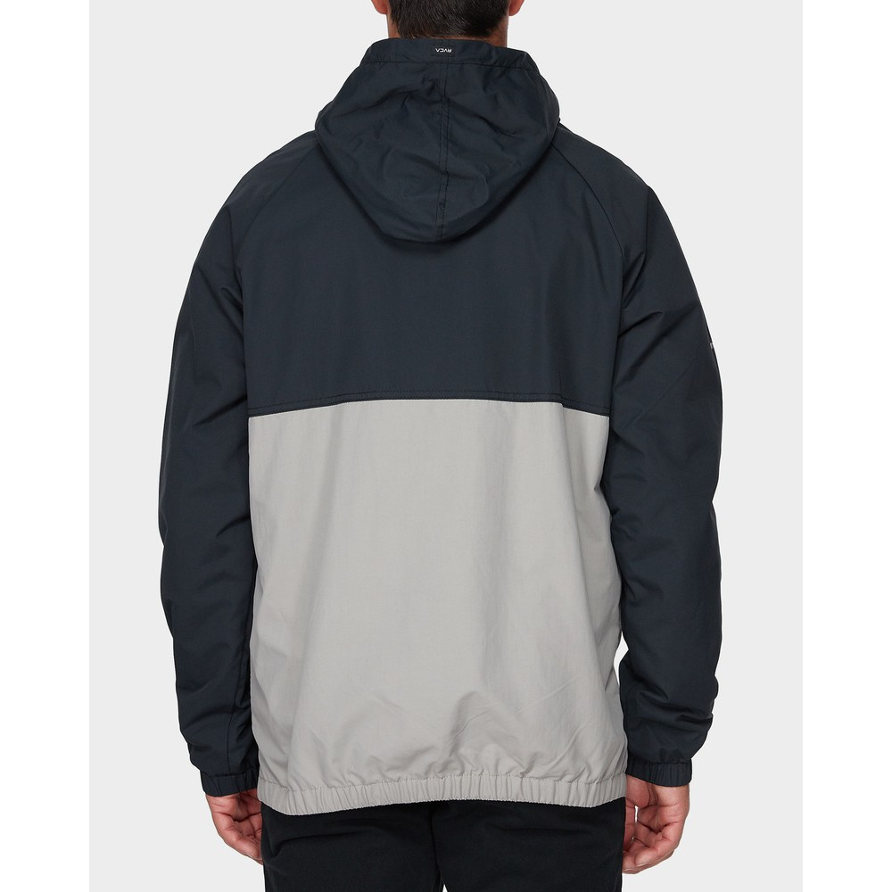 99ba5bdd0 mens rvca easy as half zip jacket BLACK nylon woven | Shopee Malaysia