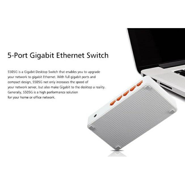 TOTOLINK S505G 5-Port 10/100/1000Mbps Gigabit Ethernet Desktop Network Switch