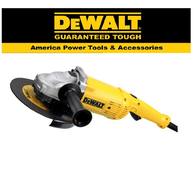 """READY STOCK!!DEWALT D28414-B1 230MM (9"""") 2,200W LARGE ANGLE GRINDER 6,500RPM TRIGGER SWITCH TOOL EASY USE SAFETY"""