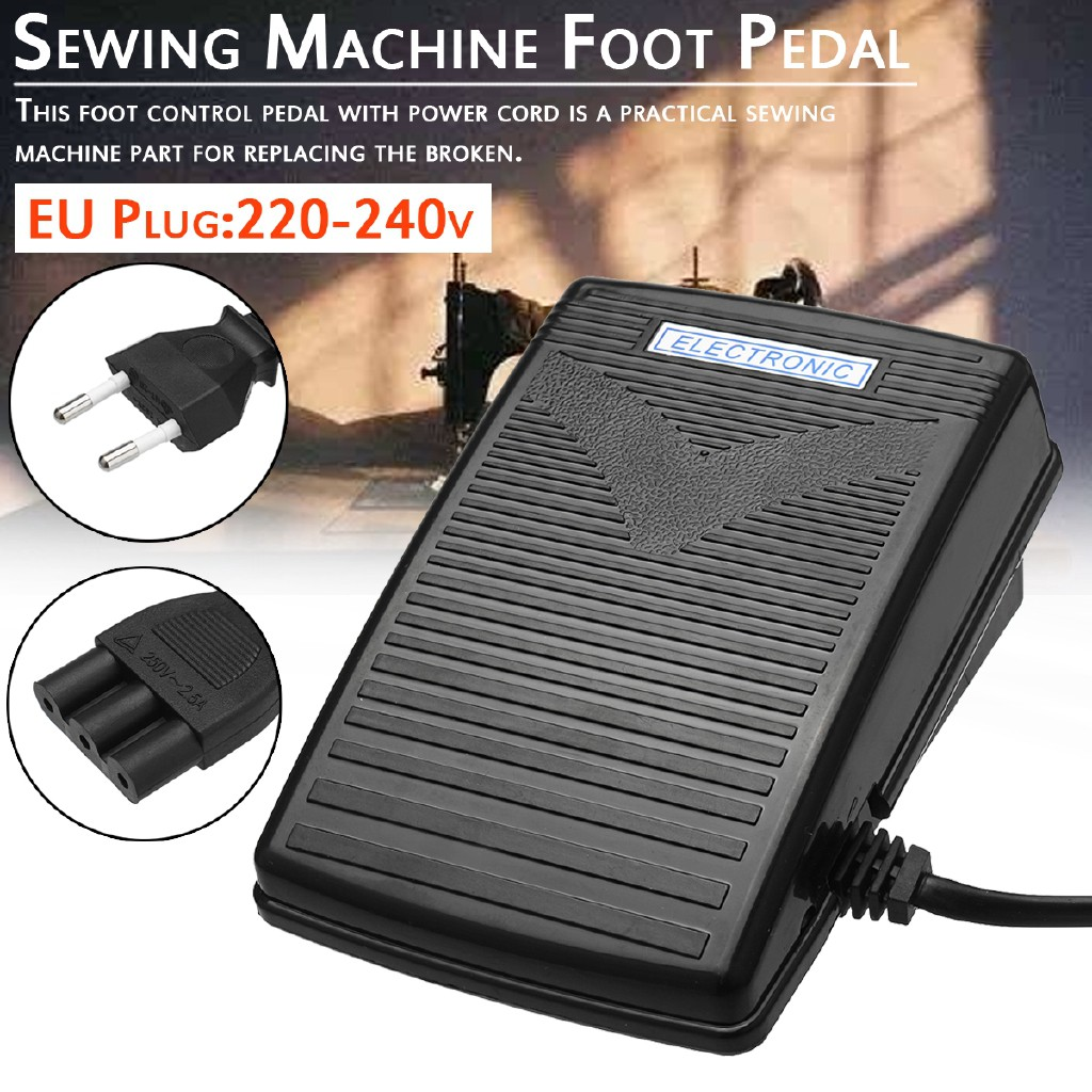 220-240V Sewing Machine Electronic Foot Control Pedal With Power Cord EU Plug