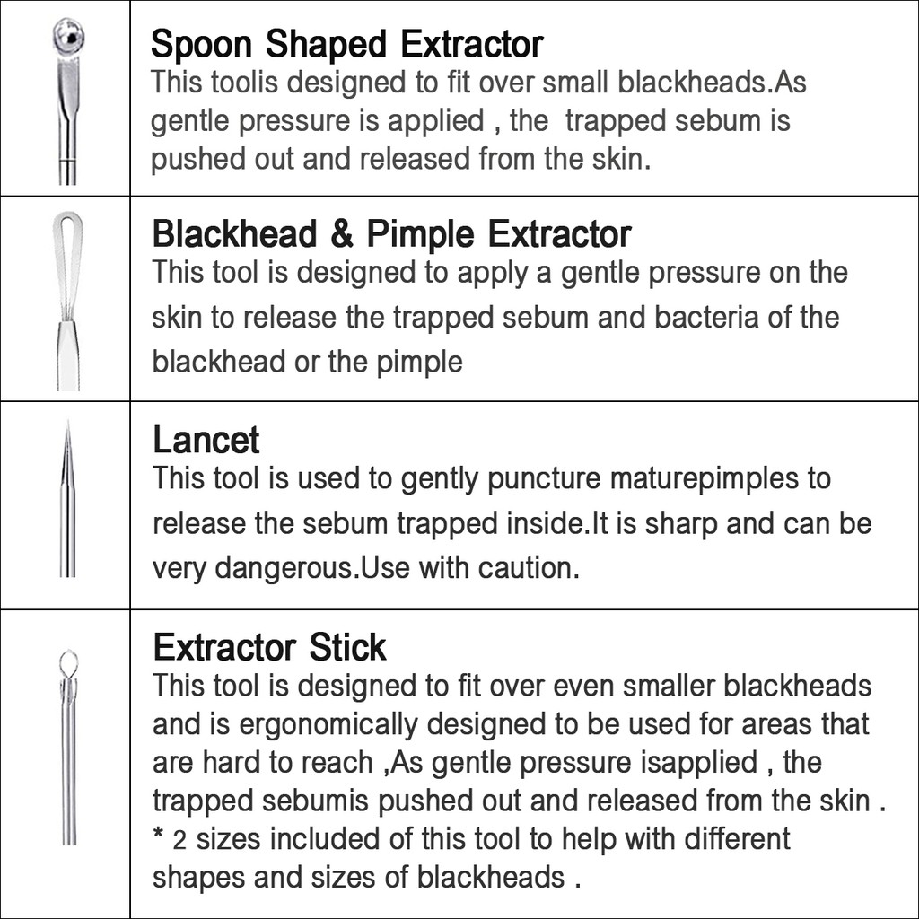 Blackhead Remover Pimple Extractor Tool Cleaner Purifying Cleansing Acne-off
