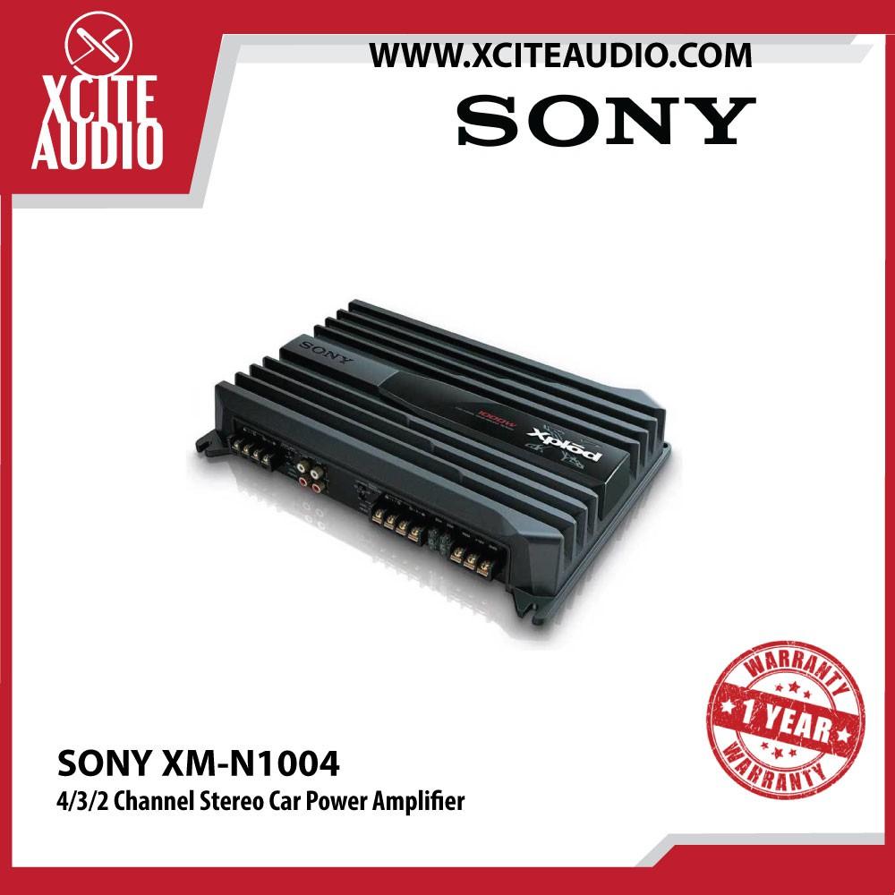 Sony XM-N1004 4/3/2 Channel Stereo Car Power Amplifier 70W RMS x 4