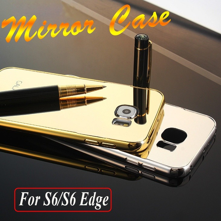 new styles 32b01 488e0 Samsung Galaxy S6 S6 Edge Ultra Thin Mirror Acrylic Back Cover Case