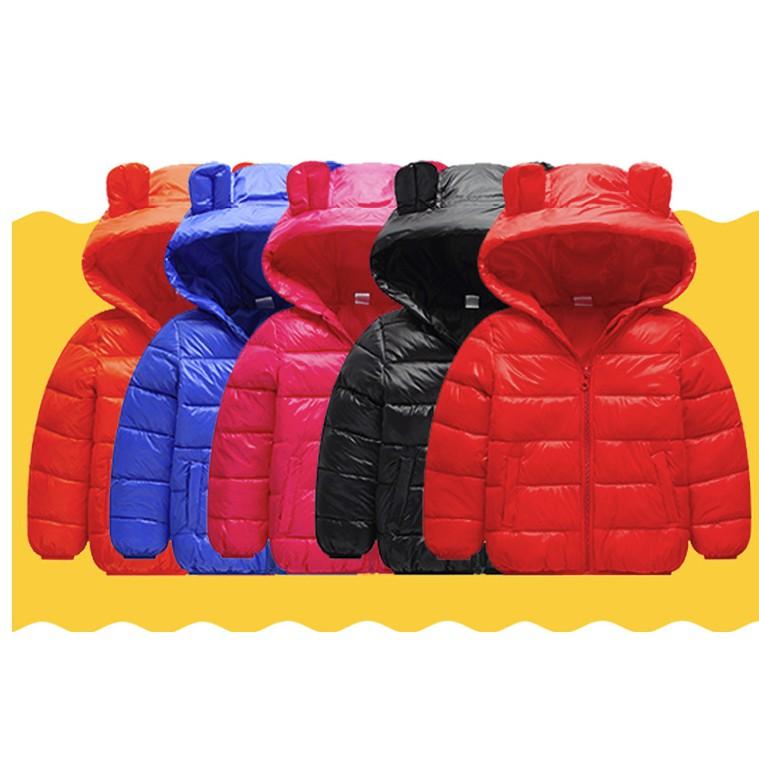 Baby Kids Girl Boy Winter Cotton Hooded Coat Jacket Zipper Outwear Clothes