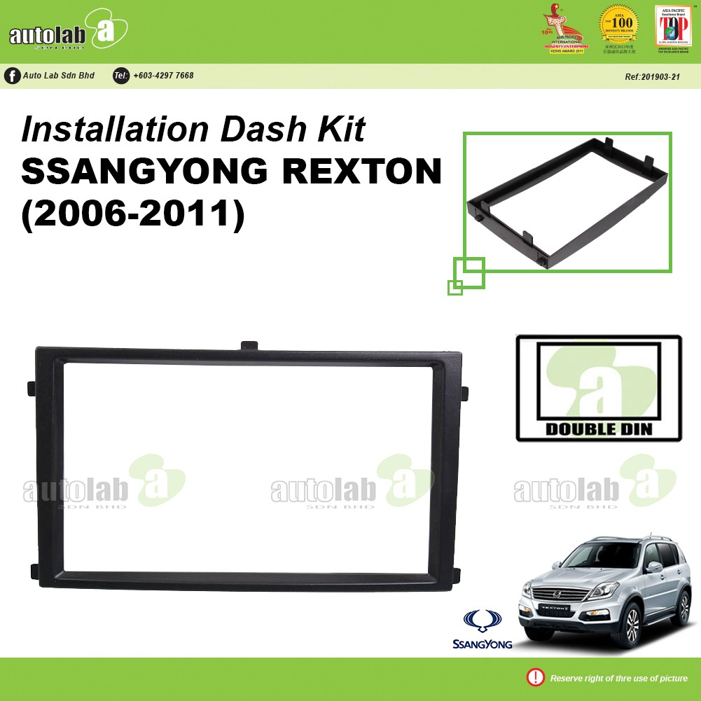 Player Casing Double Din Ssangyong Rexton (2006-2011)