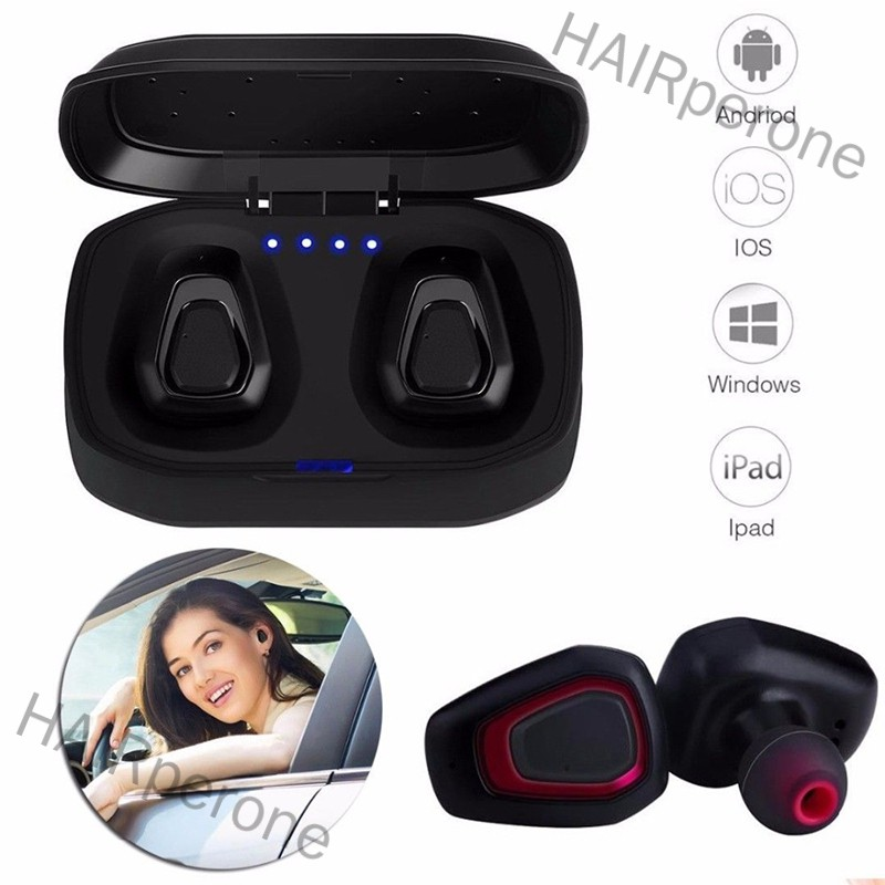HAIRperone Wireless Sport Earbuds Headset Bluetooth HIFI In-Ear Stereo Headphones