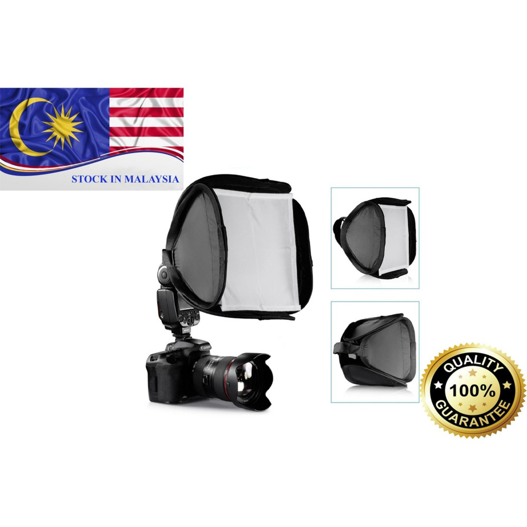23cm x 23cm Flash Diffuser Softbox For Canon Nikon Flash Light (Ready Stock In Malaysia)