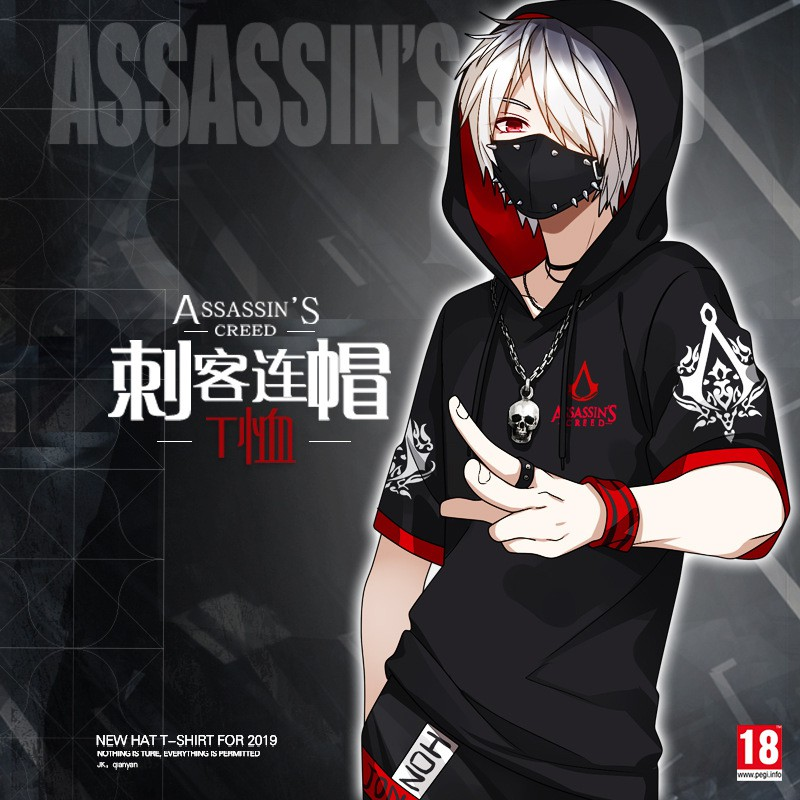 Assassin S Creed Anime T Shirt Around Two Yuan Men And Women Loose