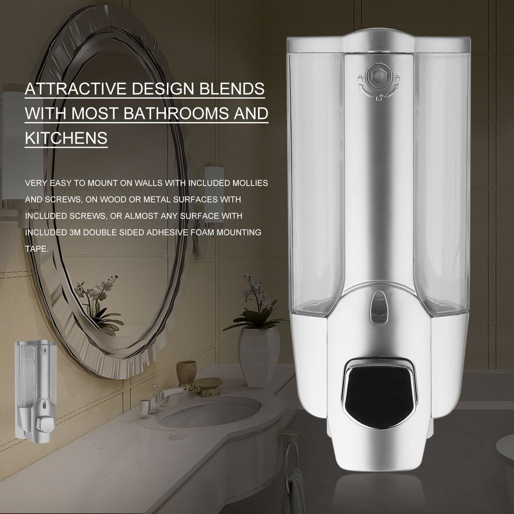 Raya Kitchen Wall Mount Soap Bathroom Shower Shampoo 3m Interior Dressing 350 Ml Bottle Dispenser Shopee Malaysia