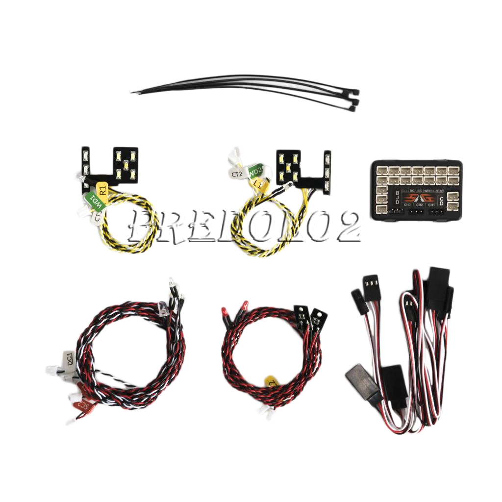 RC Car Front Rear LED Full Light Kit for 1/10 Traxxas TRX4 Ford Rock Crawler