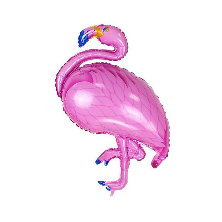 10pcs Tropical Mini Flamingo Foil Balloons Kids Birthday Party Decor 21x46cm