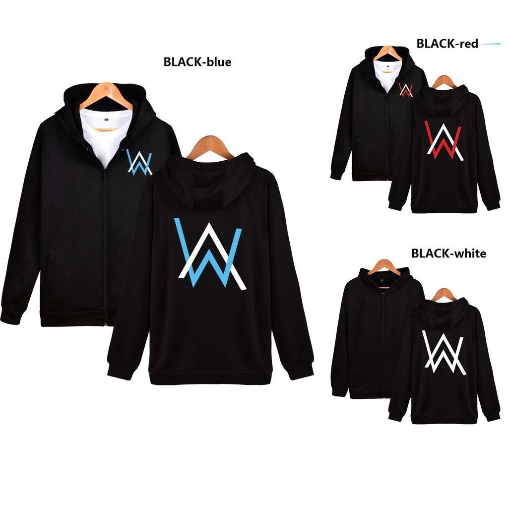 Ready Stock Alan Walker Zip Sweater Coat Hoodie Shopee Malaysia Jaket Dj Zipper