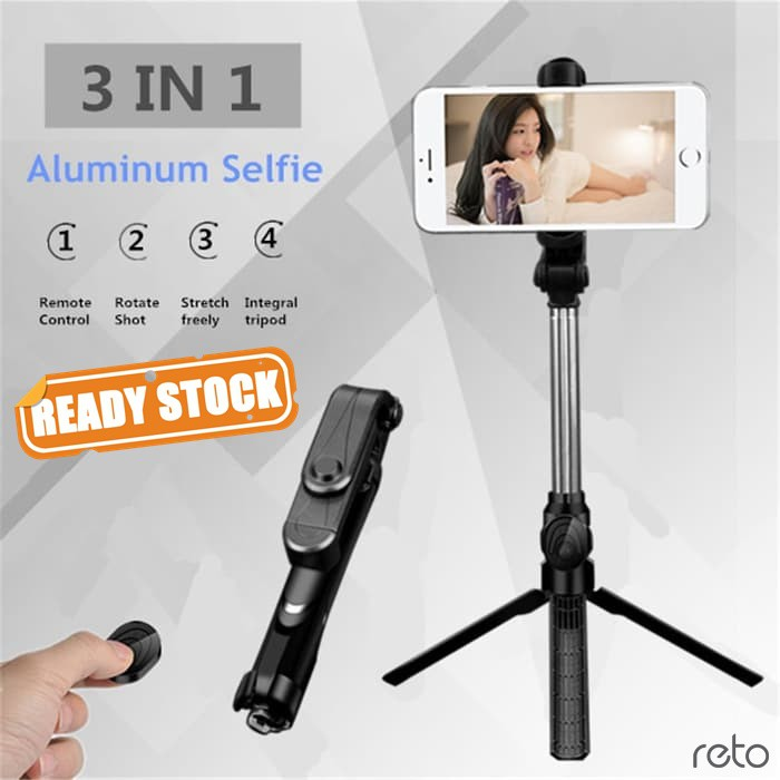 BE80 Mini/ XT10 Bluetooth Selfie Stick Tripod Monopod Wireless Control