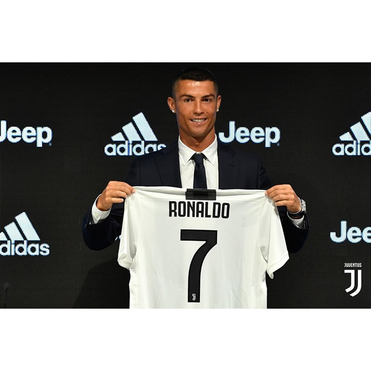 new arrival 74261 8d3d8 CR7 Adidas Juventus 18-19 Football Team Suit Juventus Home Short Sleeve  Jersey