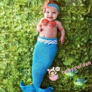 8bdc7601d GNY-Newborn Baby Boys Girls Mermaid Bra Tail Crochet Costume ...