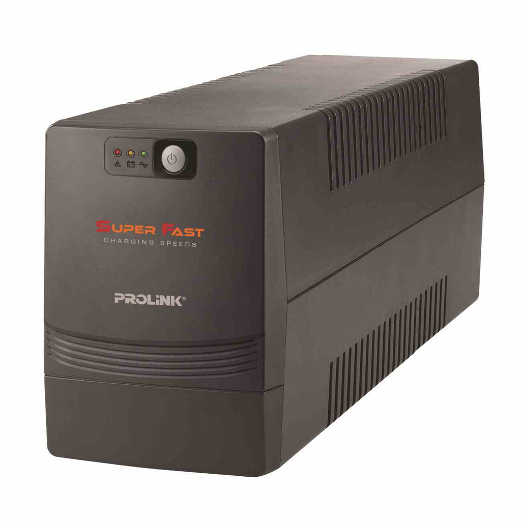 PROLiNK 1500VA UPS with AVR Super Fast Charging 3x Universal Output Sockets PRO1501SFC