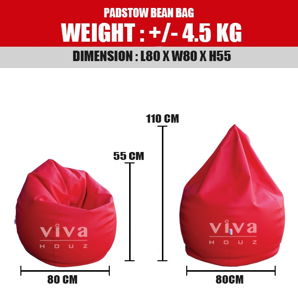 Prime Viva Houz Padstow Bean Bag Sofa Chair Pouffe Xxl Size Red Made In Malaysia Alphanode Cool Chair Designs And Ideas Alphanodeonline