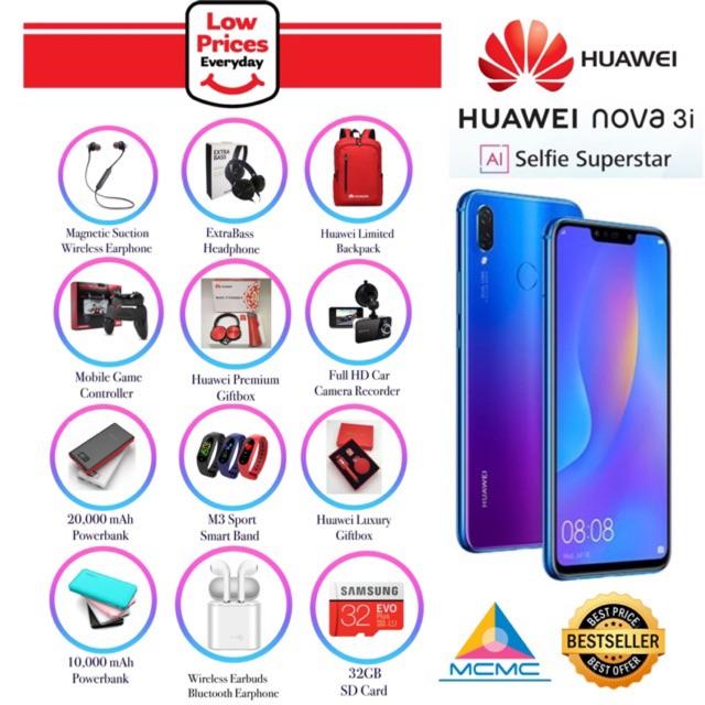 Huawei Nova 3i [4+128GB] 14Gifts🎁Original Huawei Malaysia