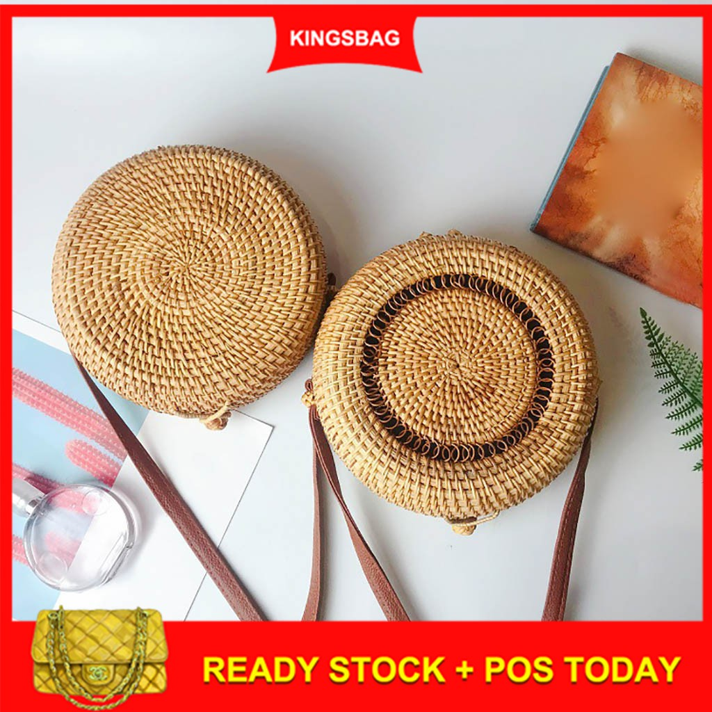 b62b50660c78 Kings👜Circle Handwoven Bali Round Rattan Straw Will Be Shipped Out In 3  Days