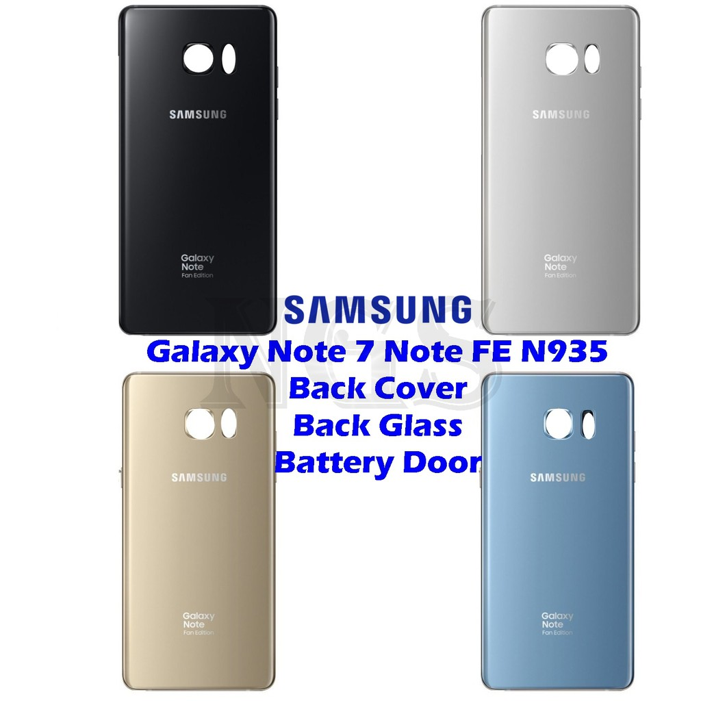 pretty nice b7d35 852fe Samsung Galaxy Note 7 Note FE N935 Back Cover Back Glass Battery Door