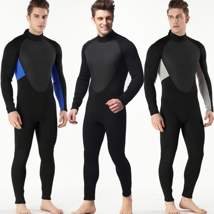 82691718c1 Men Rubber Wetsuit 3mm Scuba Diving Suit Jellyfish One Piece Swimsuits  Diving