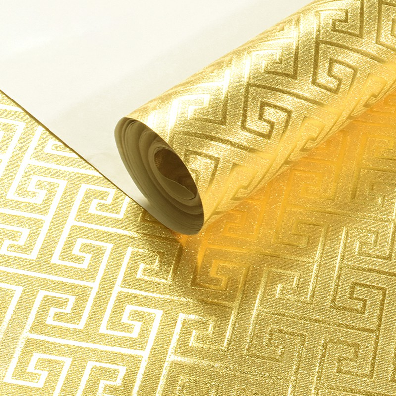Textured Gold Foil Wallpaper Deep Embossed Silver Foil Gold Silver Ceiling Ceili