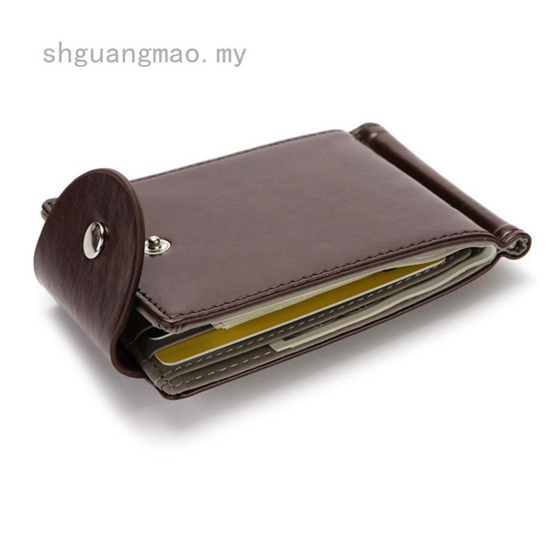 Men Short Leather Bifold Wallet ID Credit Card Holder Slim Pocket Purse 2Color
