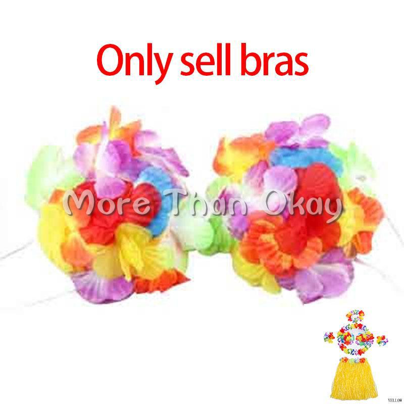 Clear Stok Colorfully Colorful Party Artificial Flower Hawaii Grass Bra