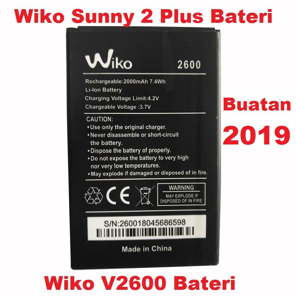 Ori Kualiti Wiko Sunny 2 Plus 2+ V2600 Battery Bateri