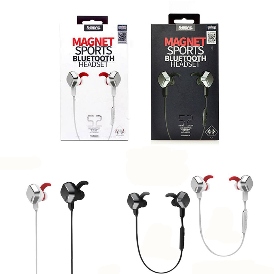 Remax S2 Magnet Headset Wireless Sports Bluetooth 4 1 Shopee Malaysia