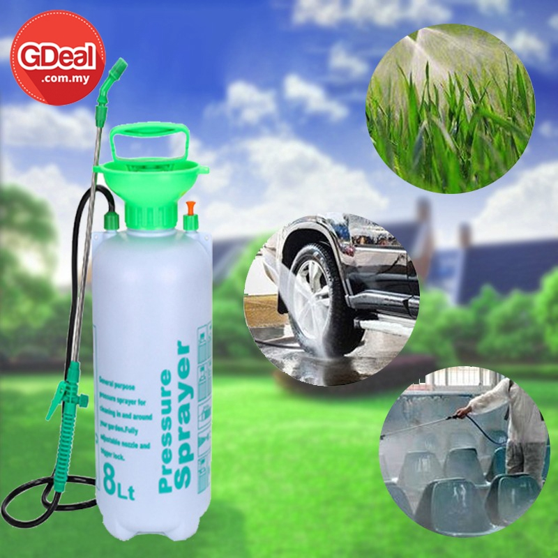 GDeal Shoulder Type Manual Pneumatic Agricultural And Household Gardening Sprayer 8L