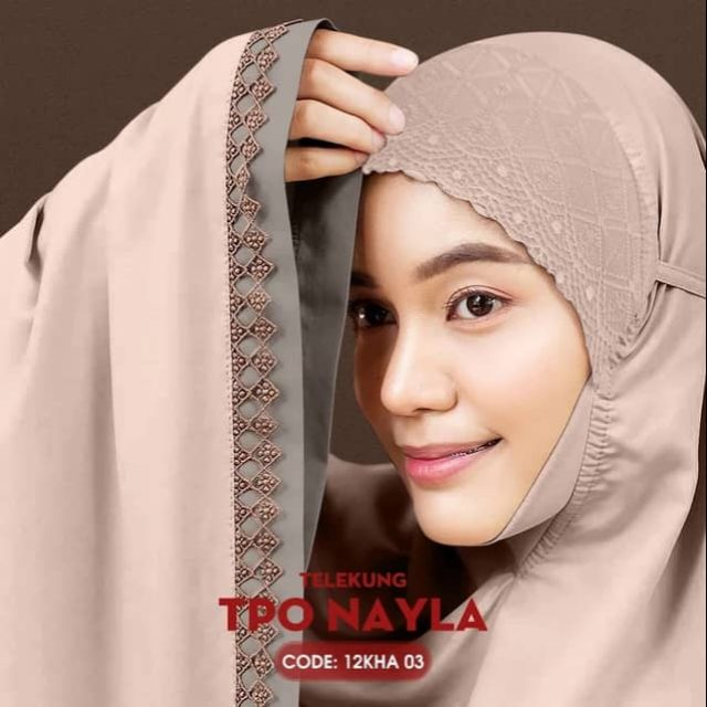 Telekung Cotton Nayla Collection - Free Woven Bag