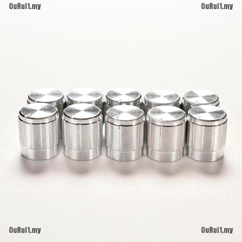 10X Aluminum Knobs Rotary Switch Potentiometer Volume Control Pointer Hole  SE