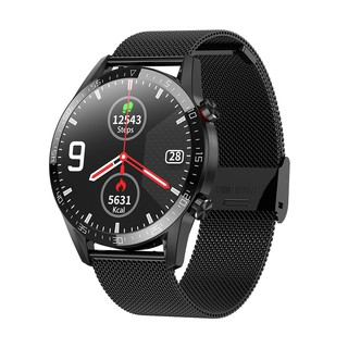 Microwear L13 Smartwatch 1.3 IPS Full Touch Screen With Bluetooth Call -Black Magnetic