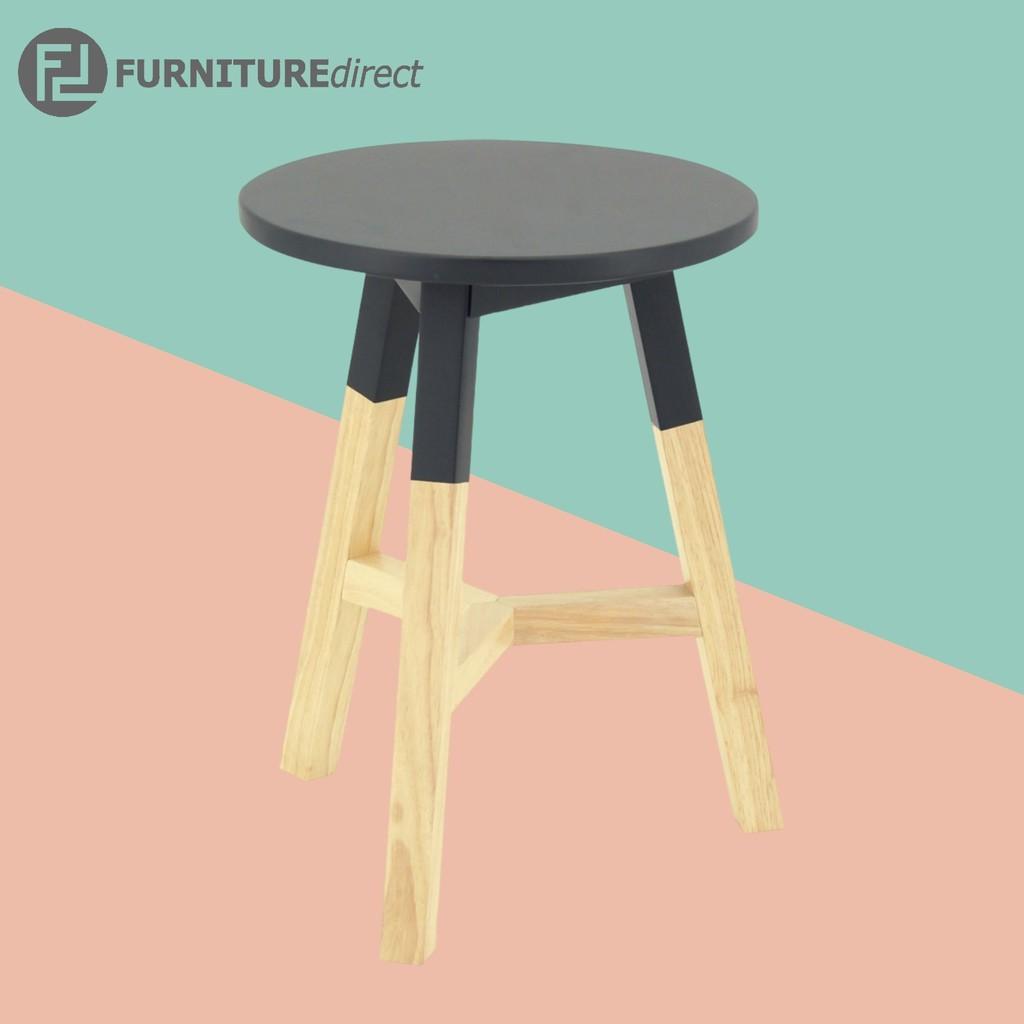 [FREE SHIPPING] REBA solid rubberwood stool